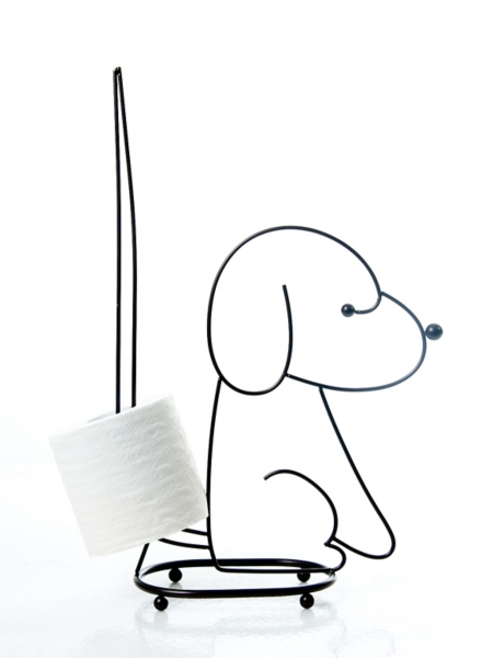 Bathroom Decor - Sitting Dog Spare Toilet Tissue Holder