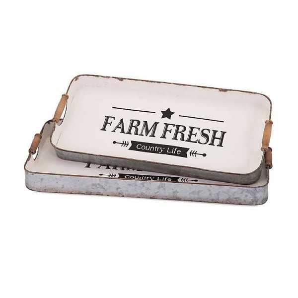 Serving Trays - Vintage Farm Fresh Trays