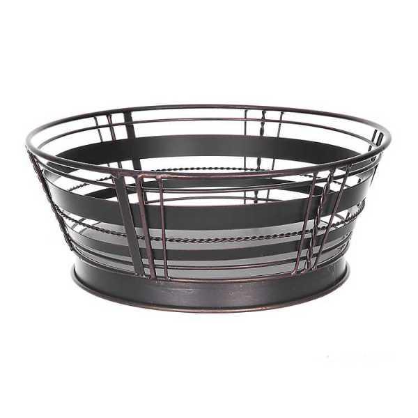 Fruit Bowls & Baskets - Antique Black Woven Plaid Fruit Basket