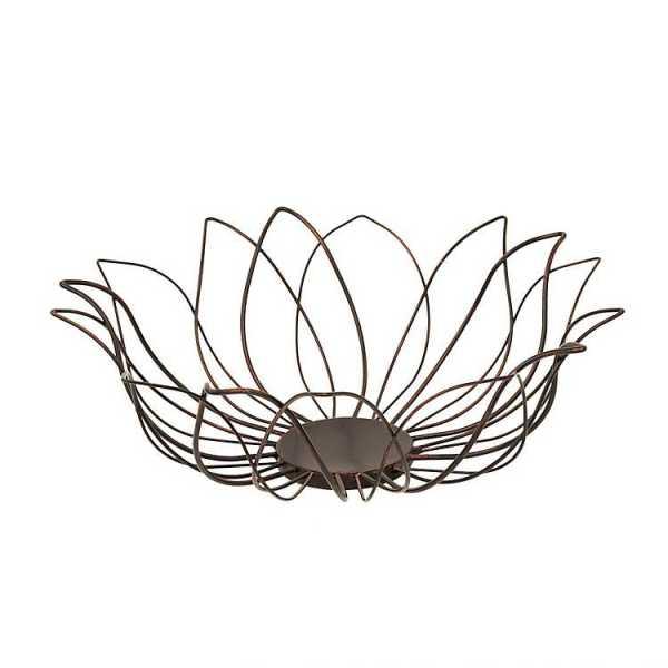 Fruit Bowls & Baskets - Bronze Lotus Fruit Basket