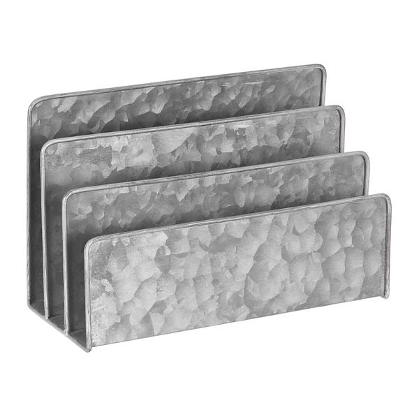 Decorative Accessories - Galvanized Metal Letter File Desk Accessory