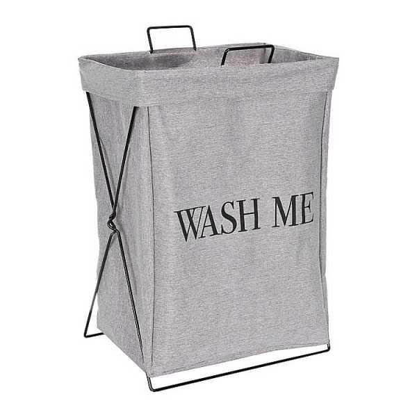 Baskets & Boxes - Wash Me Metal X-Base Hamper