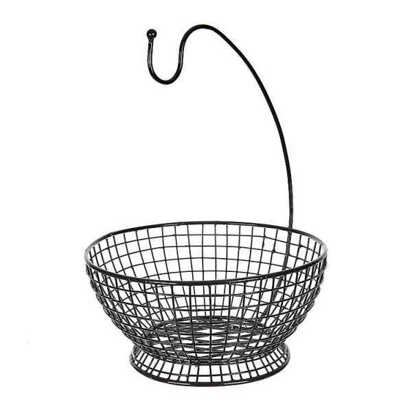 Fruit Bowls & Baskets - Black Wire Banana Basket