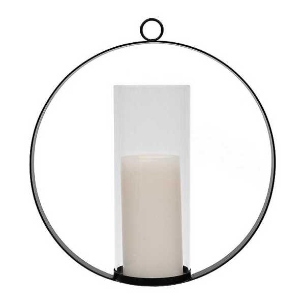 Wall Sconces - Black Metal Round Sconce