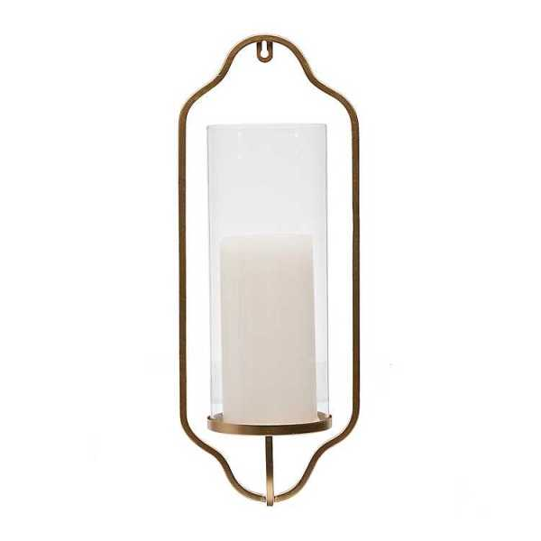 Wall Sconces - Gold Metal Single Wall Sconce with Glass
