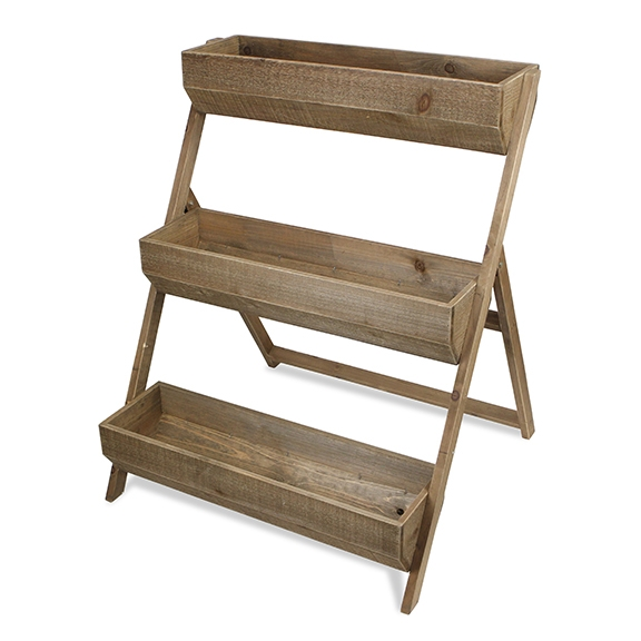 Planters - Natural Wooden 3-Tier Planter