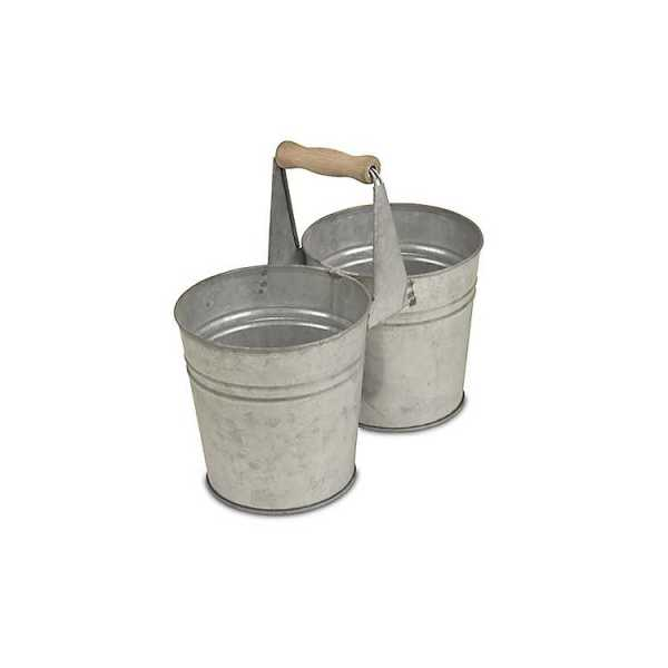 Baskets & Boxes - Double Metal Pot with Top Handle