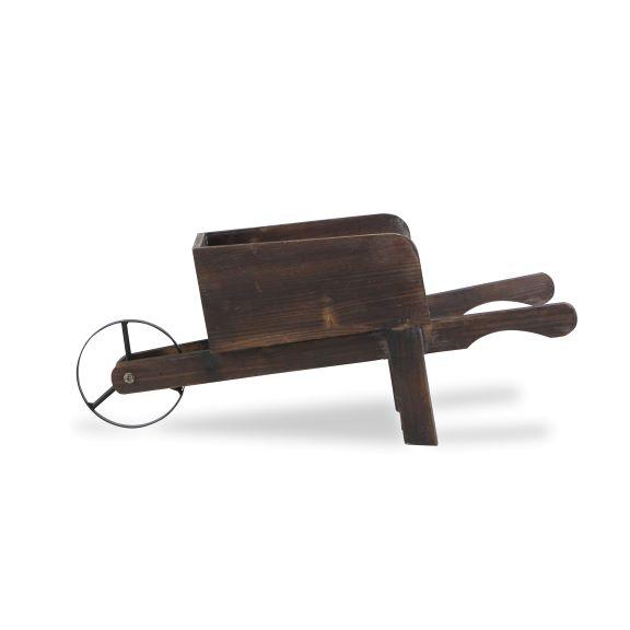 Statues & Figurines - Wood and Metal Wheelbarrow