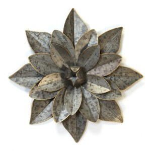 Galvanized Flower Layered Wall Art