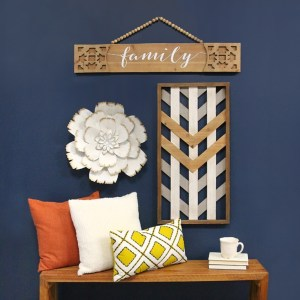 Family Laser Cut Wooden Hanging Wall Décor