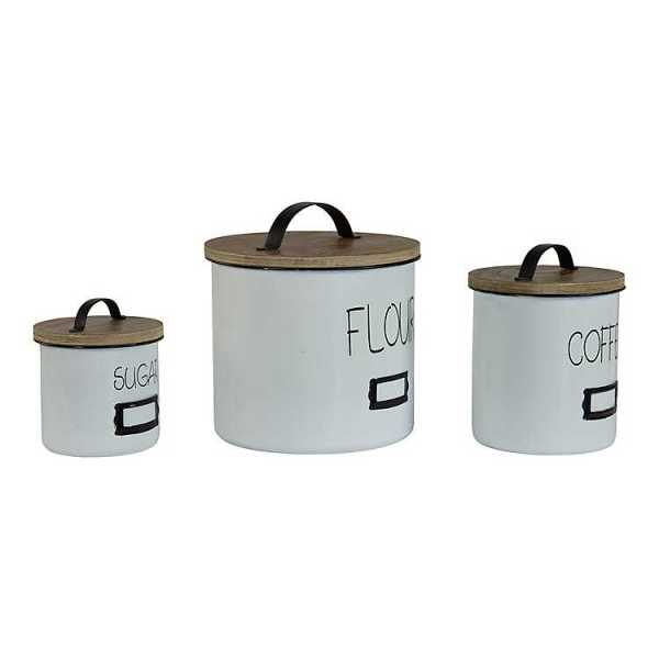 Kitchen Canisters - White Sugar, Flour, Coffee Canisters