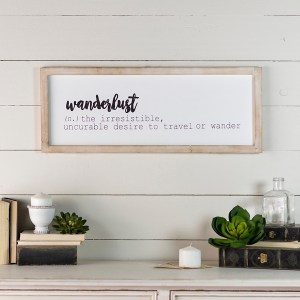 Wooden Wanderlust Framed Wall Decor