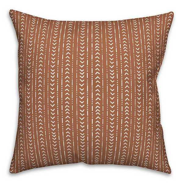 Throw Pillows - Orange Small Geometric Print Pillow