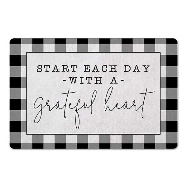 Kitchen Mats - Grateful Heart Buffalo Check Kitchen Mat