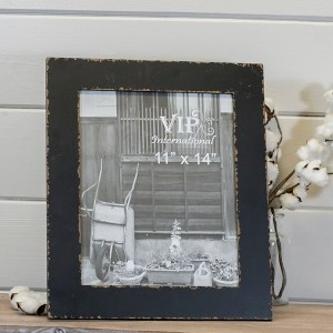 Picture Frames - Simple Distressed Black Picture Frame, 11x14