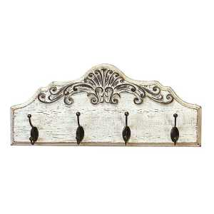 Shabby Chic Scrolled Wood Wall Hooks