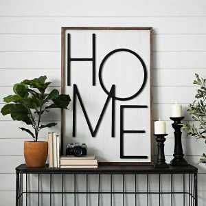 Wooden Home Letters Wall Decor