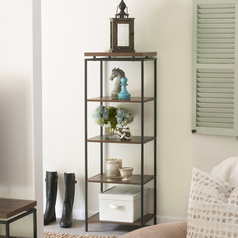 Addie Wholesale Floating Top-shelf and 5 Open Shelves ... on Corner Sconce Shelf Tray id=39276