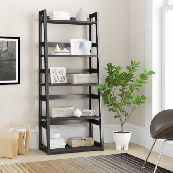 cosima-modern-style-5-tiered-ladder-bookcase