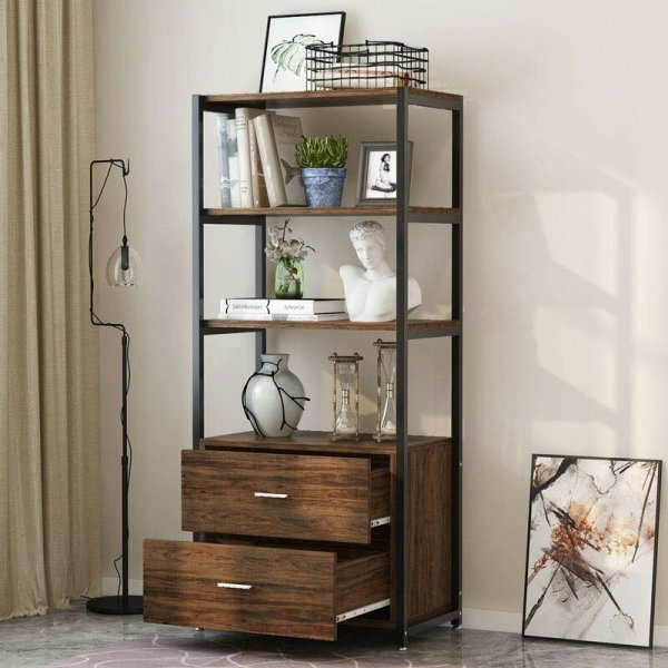 jill-3-tier-open-shelf-and-2-large-drawers-standard-bookcase1