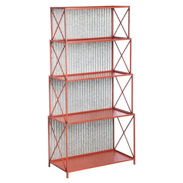 margarita-red-distressed-bookcase-with-galvanized-corrugated-metal-back1