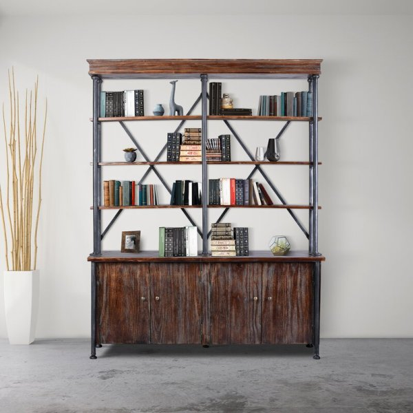 sachin-industrial-4-partitioned-shelves-and-2-cabinets-library-bookcase