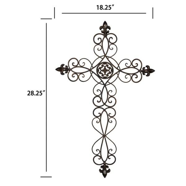 Rustic Metal Cross Wall Hanging Dimensional Drawings