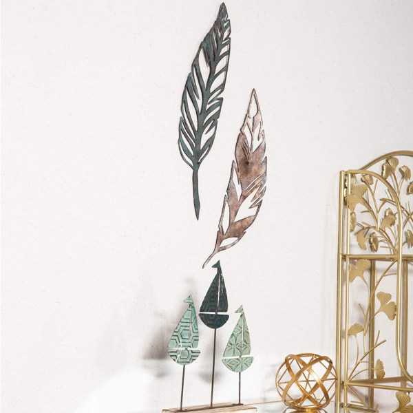 Home Antique Feather Wall Decor and Leaf Wall Decor Window Real Shot 1