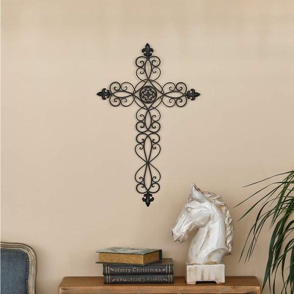 Rustic Metal Cross Wall HangingReal Shot 1