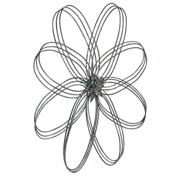 Rustic Iron Flower Wall Decor Real Shot2