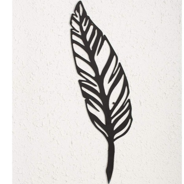 Home Antique Feather Wall Decor and Leaf Wall Decor Partial details 2