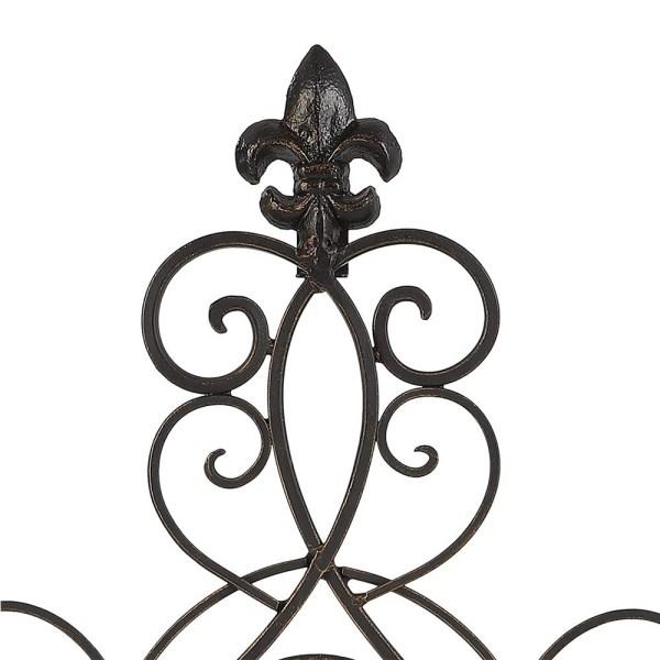 Rustic Metal Cross Wall Hanging Partial details 1