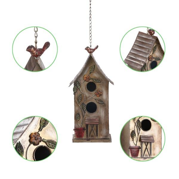 Outdoor Hanging Finch Birdhouses Partial details