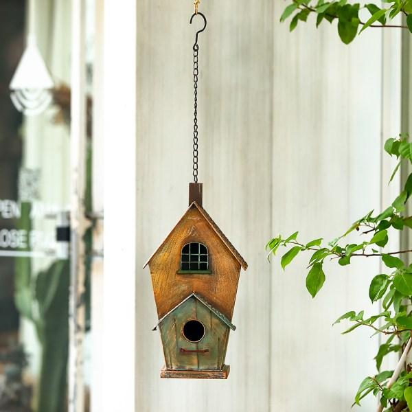 Outdoor Hanging Birdhouses with Window Real Shot 2