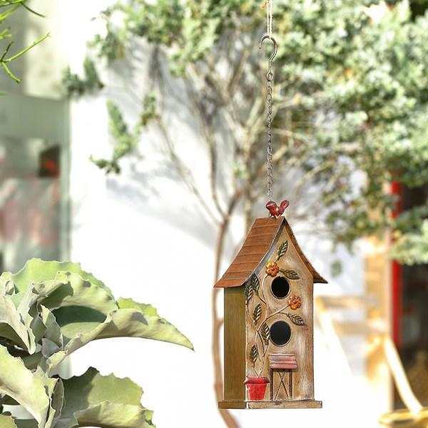 Outdoor Hanging Finch Birdhouses Real Shot 3
