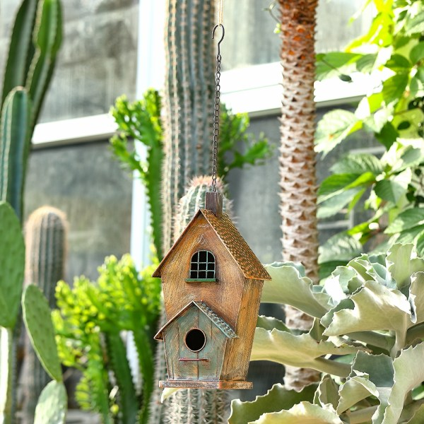 Outdoor Hanging Birdhouses with Window Real Shot 4