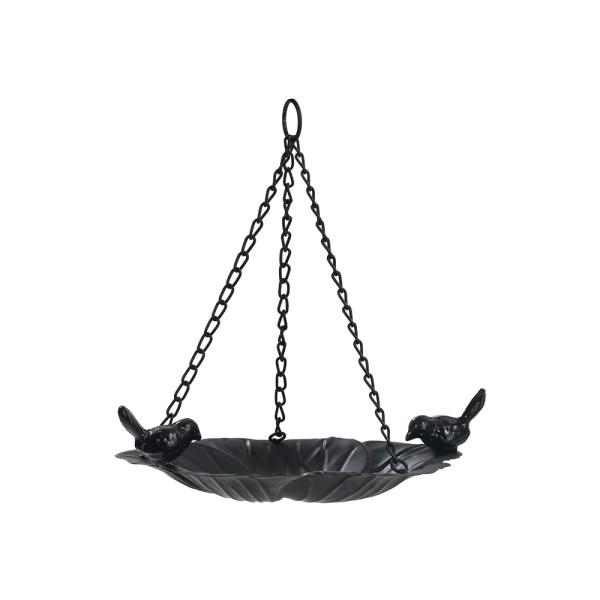 Black hanging tray bird feeders