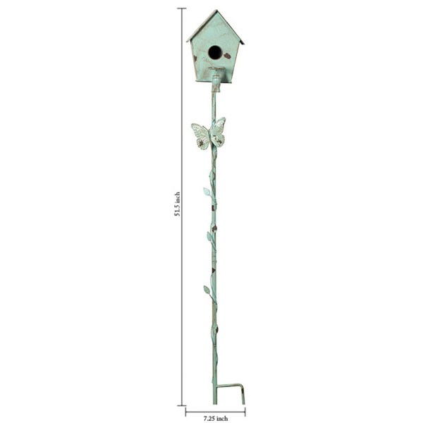 Small Outdoor Wild Pole Birdhouse Dimensional Drawings
