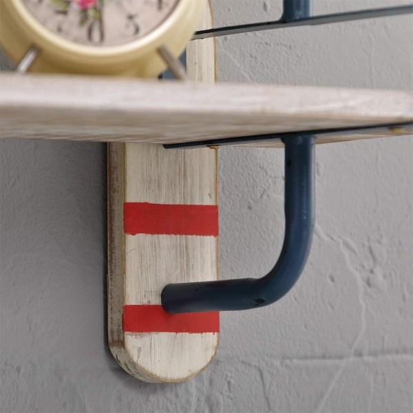 24inch Whitewash Wood Shelves Partial details 2