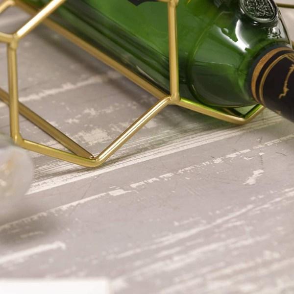 Golden Countertop Lattice Wine Rack Partial details 1