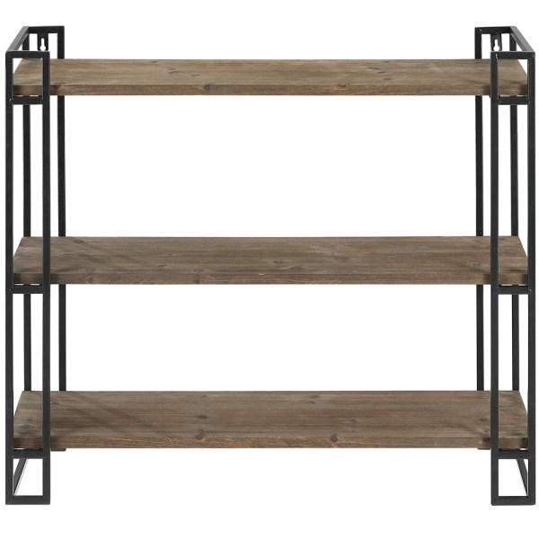 3 Tier Wooden Wall Mounted Bookshelves 1