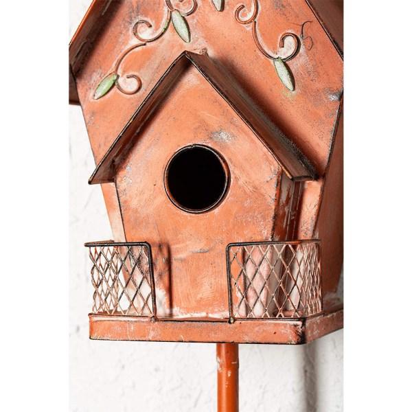 Orange Antique Flower Birdhouse Partial details 1