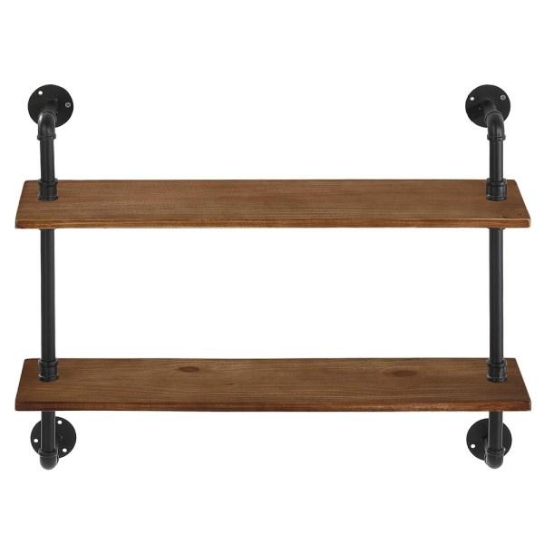 Rustic Wooden Bathroom Shelves 2
