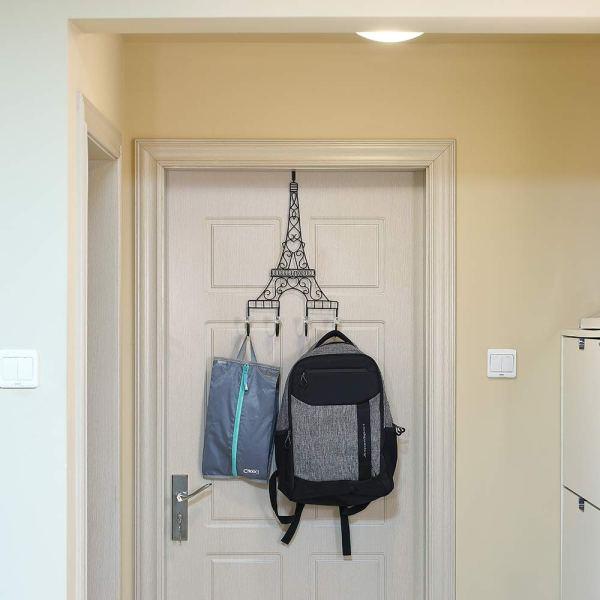 Metal Eiffel Tower Black Coat Hooks Real shot 1