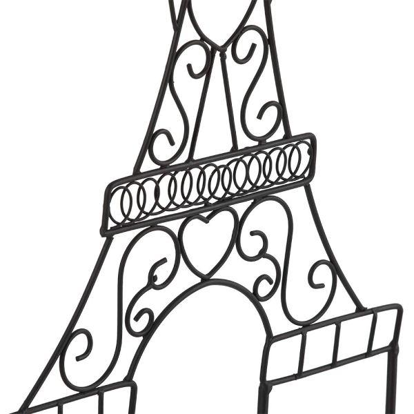 Metal Eiffel Tower Black Coat Hooks Partial details 2