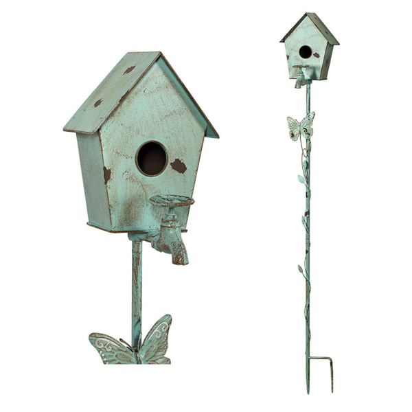 Small Outdoor Wild Pole Birdhouse