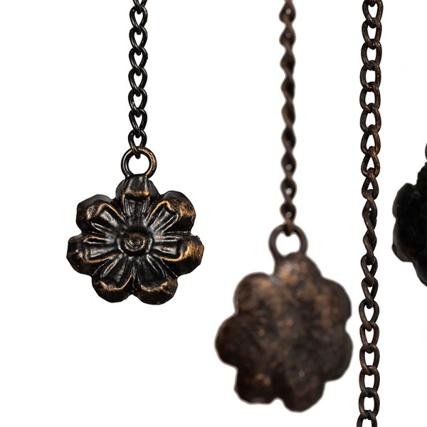 Antique Wind Chimes with Butterflies and Flowers Partial details 4