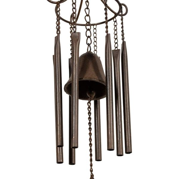 Large Vintage Metal Butterfly Wind Chimes Partial details 2
