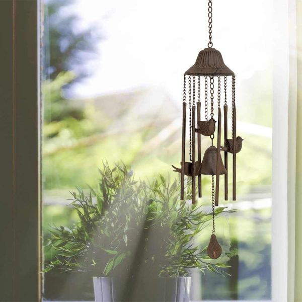 Outdoor Antique Cardinal Wind Chimes Real shot 1