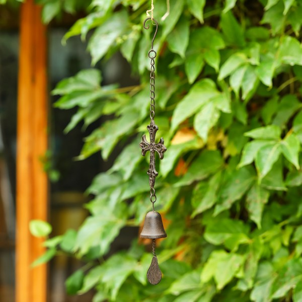 Outdoor Cross Wind Chimes Real shot 4